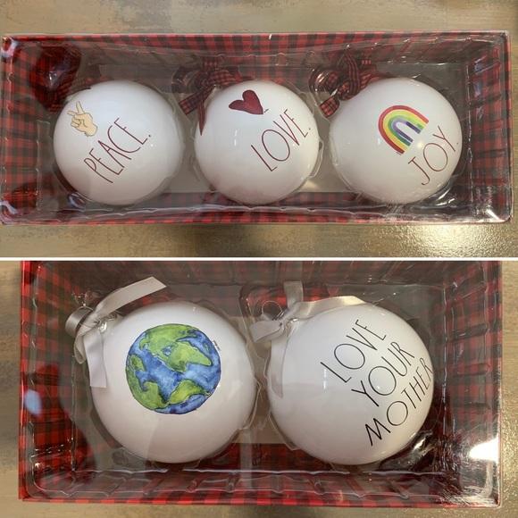 5 Rae Dunn ornaments
